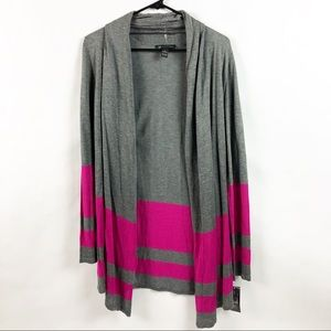 Womens International Concepts Color Block Cardigan